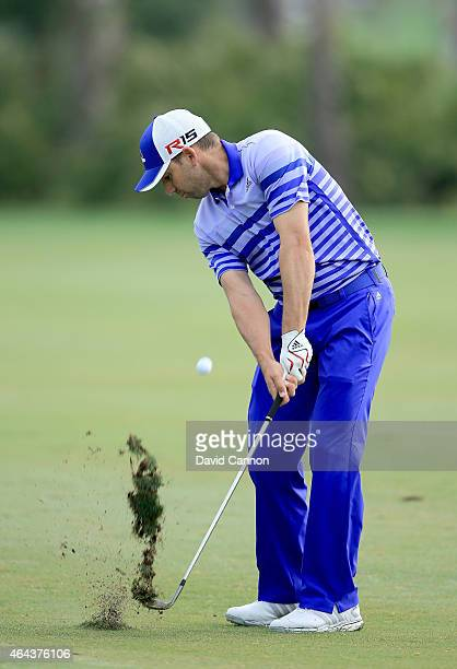 Sergio Garcia of Spain during the proam as a preview for The Honda Classic on the Champions Course at the PGA National Resort and Spa on February 25...