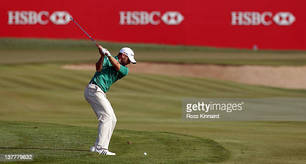 Sergio Garcia of Spain during the second round of Abu Dhabi HSBC Golf Championship at the Abu Dhabi HSBC Golf Championship on January 27 2012 in Abu...