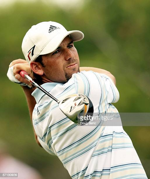 Sergio Garcia of Spain hits his drive on the 3rd hole during the final round of the Bay Hill Invitational on March 19 2006 at Bay Hill Club in...