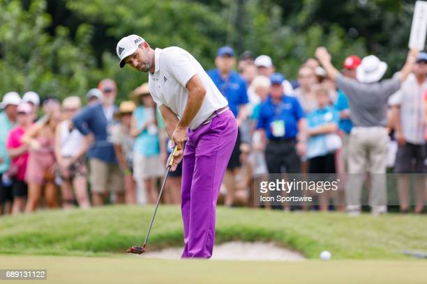 Sergio Garcia of Spain hits his putt on during the third round of the PGA Dean Deluca Invitational on May 27 2017 at Colonial Country Club in Fort...