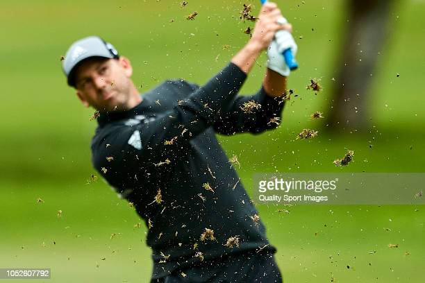 Sergio Garcia of Spain in action during day three of Andalucia Valderrama Masters 2018 at Real Club Valderrama on October 20 2018 in Cadiz Spain