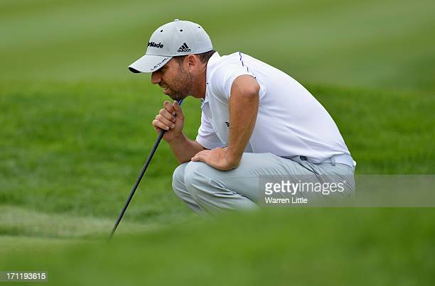 Sergio Garcia of SPain in action during the final round of the BMW International Open at Golfclub Munchen Eichenried on June 23 2013 in Munich Germany