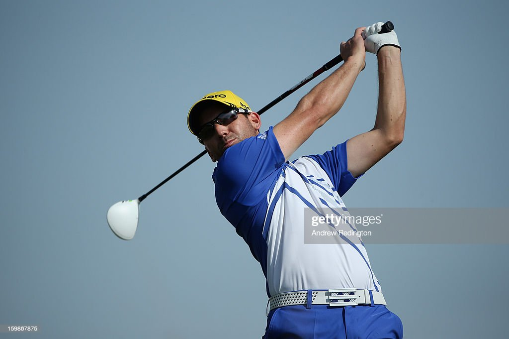 Sergio Garcia of Spain in action during the Pro Am prior to the start of the Commercial Bank Qatar Masters held at Doha Golf Club on January 22, 2013 in Doha, Qatar.