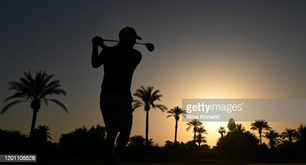 Sergio Garcia of Spain in action during the pro-am event prior to the Omega Dubai Desert Classic at Emirates Golf Club on January 22, 2020 in Dubai,...