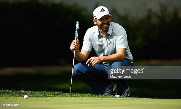 Sergio Garcia of Spain looks on during the proam event prior to the Open de Espana at Real Club Valderrama on April 13 2016 in Sotogrande Spain