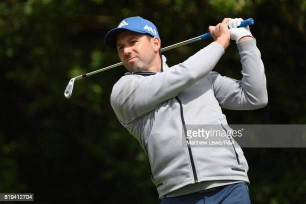 Sergio Garcia of Spain on the fifth tee during the first round of the 146th Open Championship at Royal Birkdale on July 20 2017 in Southport England