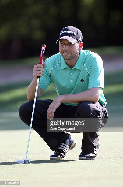 Sergio Garcia of Spain plays a shot during the first round of the Transitions Championship at Innisbrook Resort and Golf Club on March 17 2011 in...
