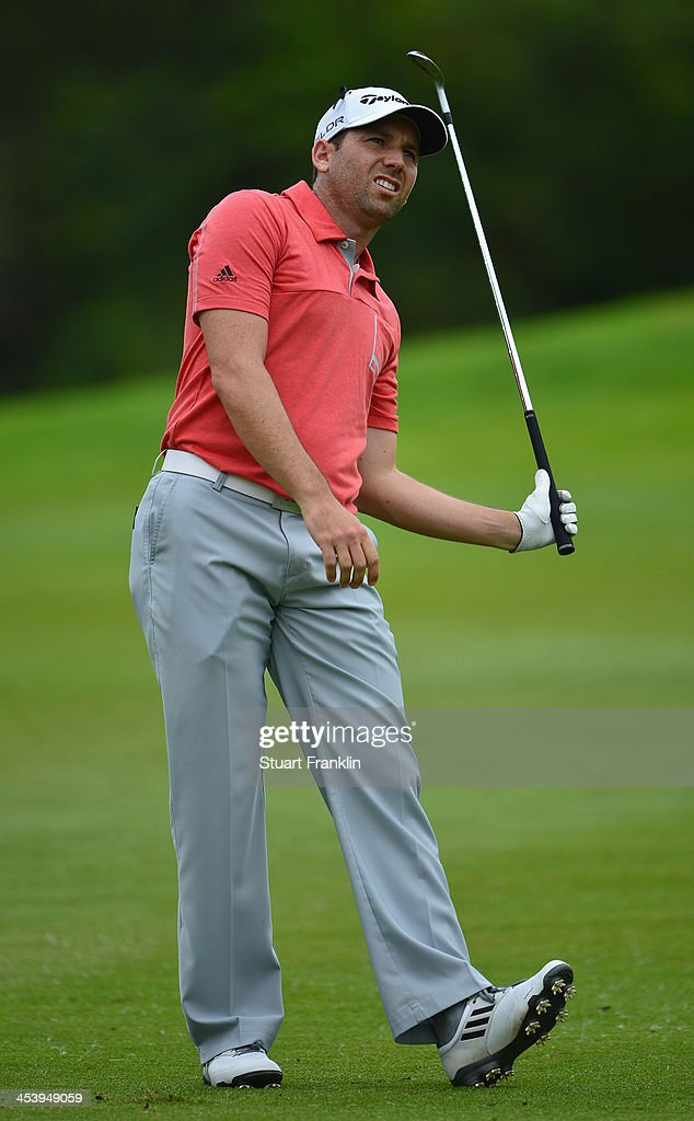 Sergio Garcia of Spain plays a shot during the second round of the Nedbank Golf Challenge at Gary Player CC on December 6, 2013 in Sun City, South Africa.