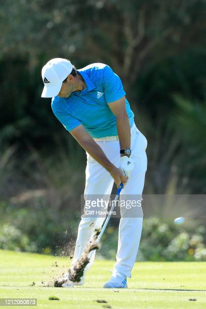 Sergio Garcia of Spain plays a shot on the 10th hole during the first round of The PLAYERS Championship on The Stadium Course at TPC Sawgrass on...