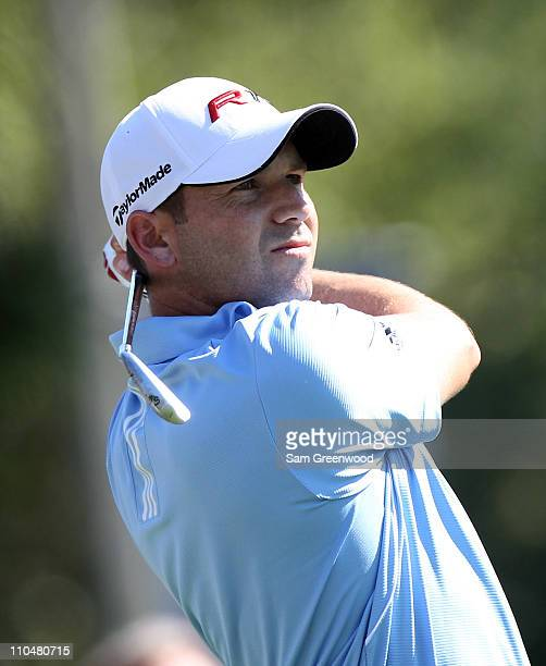 Sergio Garcia of Spain plays a shot on the 12th hole during the third round of the Transitions Championship at Innisbrook Resort and Golf Club on...