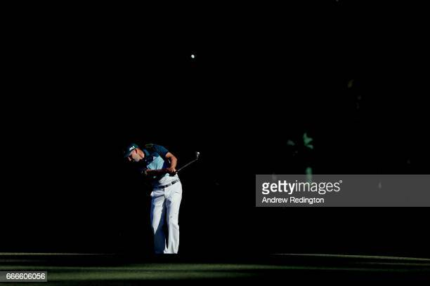 Sergio Garcia of Spain plays a shot on the 13th hole during the final round of the 2017 Masters Tournament at Augusta National Golf Club on April 9...