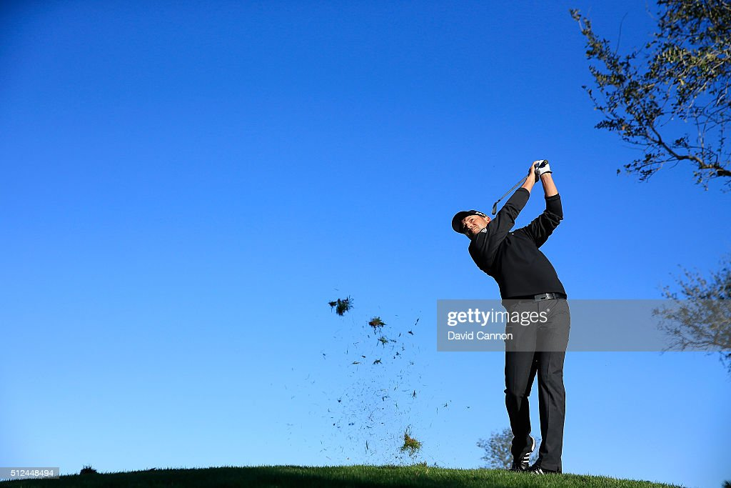 Sergio Garcia of Spain plays his second shot at the par 4, 12th hole during the second round of the 2016 Honda Classic held on the PGA National Course at the PGA National Resort and Spa on February 26, 2016 in Palm Beach Gardens, Florida.