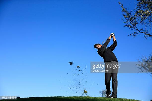 Sergio Garcia of Spain plays his second shot at the par 4 12th hole during the second round of the 2016 Honda Classic held on the PGA National Course...