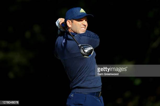 Sergio Garcia of Spain plays his shot from the 14th tee during the second round of the Sanderson Farms Championship at The Country Club of Jackson on...