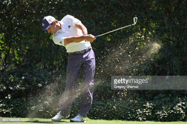 Sergio Garcia of Spain plays his shot from the third teeduring the final round of World Golf Championships-Mexico Championship at Club De Golf...