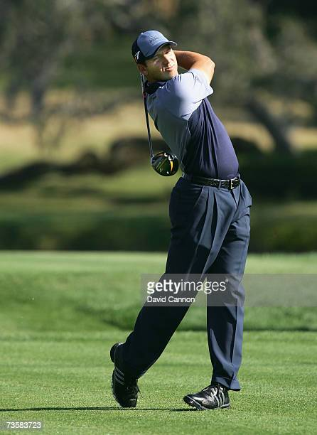 Sergio Garcia of Spain plays his tee shot at the par 4 16th hole during the first round of the Arnold Palmer Invitational presented by Mastercard on...