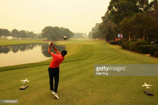 Sergio Garcia of Spain tees off on the 16th hole during day one of the 2019 Australian Golf Open at The Australian Golf Club on December 05 2019 in...