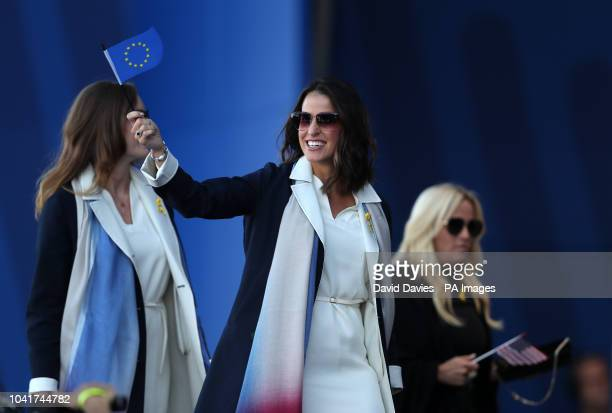 Sergio Garcia's wife Angela Akins during the Ryder Cup Opening Ceremony at Le Golf National SaintQuentinenYvelines Paris