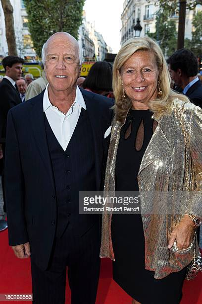 Sergio Gobbi and his wife Corinne Bouygues arrive to the premiere of the movie Quai d'Orsay organized by the Claude Pompidou foundation prior to...
