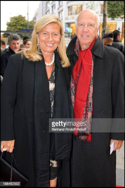 Sergio Gobbi and his wife Corinne Bouygues at Premiere Of Film Faubourg 36 At Ugc Normandie In Benefit Of Claude Pompidou Foundation