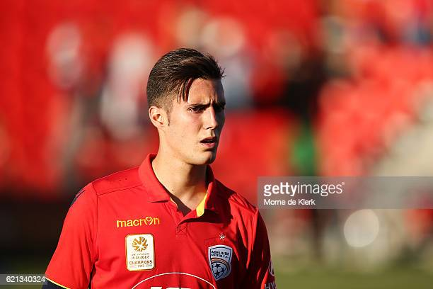 Sergio Guardiola of Adelaide United looks on after the round five ALeague match between Adelaide United and the Central Coast Mariners at Coopers...