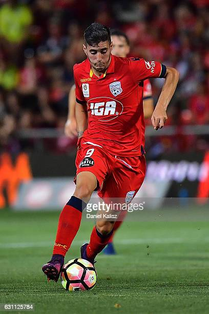 Sergio Guardiola of United controls the ball during the round 14 ALeague match between Adelaide United and Melbourne Victory at Coopers Stadium on...