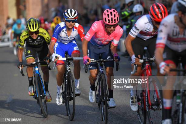 Sergio Higuita of Colombia and Team EF Education First / Esteban Chaves of Colombia and Team Mitchelton-Scott / Rudy Molard of France and Team...