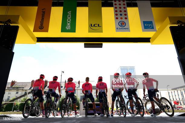 Sergio Higuita of Colombia, Rigoberto Urán of Colombia, Magnus Cort of Denmark, Neilson Powless of The United States, Stefan Bissegger of...