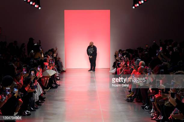 Sergio Hudson on the runway for the Sergio Hudson fashion show during February 2020 New York Fashion Week The Shows at Gallery II at Spring Studios...