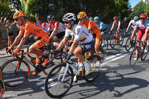 Sergio L Henao Montoya of Colombia and Team Sky / Pawel Piotr Cieslik of Poland and Team Ccc Sprandi Polkowice / during the 75th Tour of Poland 2018...