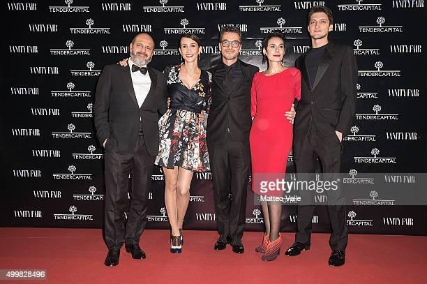 Sergio Leone Manuela Parodi Salvatore Palombi Erika Urban and Andrea Lattanzi attend the showing of 'Un'altra Storia' at Teatro Vetra on December 3...