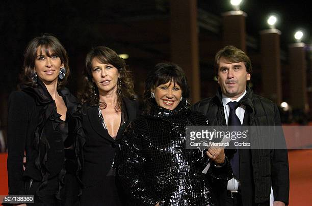 Sergio Leone's wife Carla and his children Raffaella Francesca and Andrea attend the premiere of Once Upon a Time in the West during the 2nd annual...