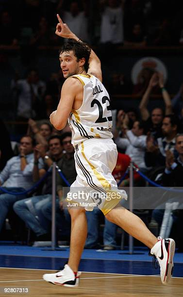 Sergio Llull, #23 of Real Madrid in action during the Euroleague Basketball Regular Season 2009-2010 Game Day 3 between Real Madrid and Panathinaikos...