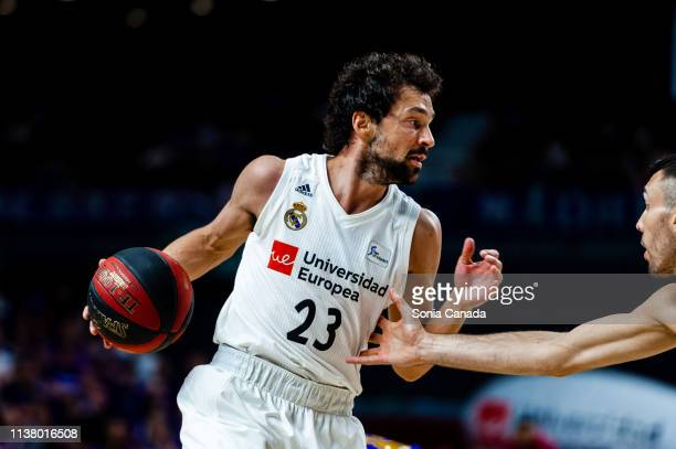 Sergio Llull during the Liga Endesa match between Real Madrid and FC Barcelona Lassa at Wizink Center on March 24 2019 in Madrid Spain
