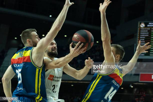 Sergio Llull of Real madrid game during Real Madrid vs MoraBanc Andorra in Liga Endesa ACBregular season game celebrated in Madrid at Wizink Center...