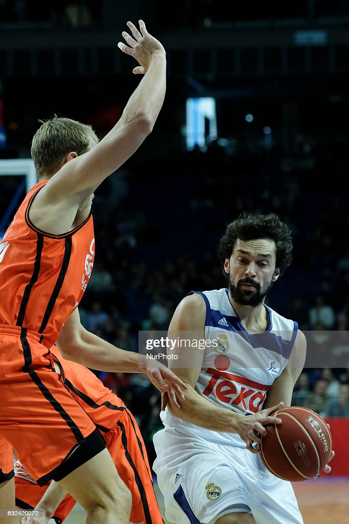 Sergio Llull Of Real Madrid In Action During Real Madrid Vs