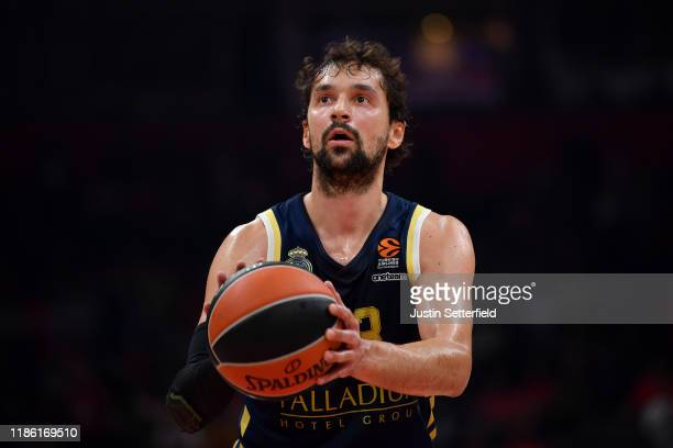 Sergio LLull of Real Madrid in action during the 2019-2020 Tukish Airlines Regular Season Round 7 game between Crvena Zvezda mts Belgrade and Real...