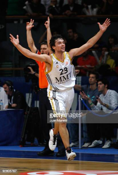 Sergio Llull of Real Madrid in action during the Euroleague Basketball Regular Season 2009-2010 Game Day 3 between Real Madrid and Panathinaikos...