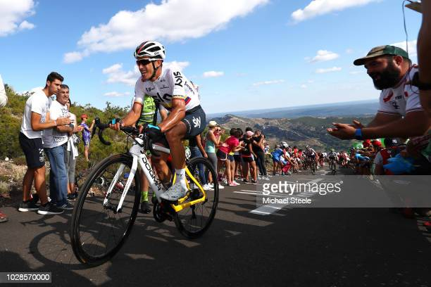 Sergio Luis Henao Montoya of Colombia and Team Sky / Alto de la Camperona / Fans / Public / during the 73rd Tour of Spain 2018, Stage 13 a 174,8km...