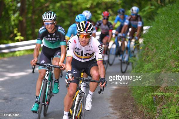 Sergio Luis Henao Montoya of Colombia and Team Sky / Davide Formolo of Italy and Team BoraHansgrohe / during the 101st Tour of Italy 2018 Stage 19 a...