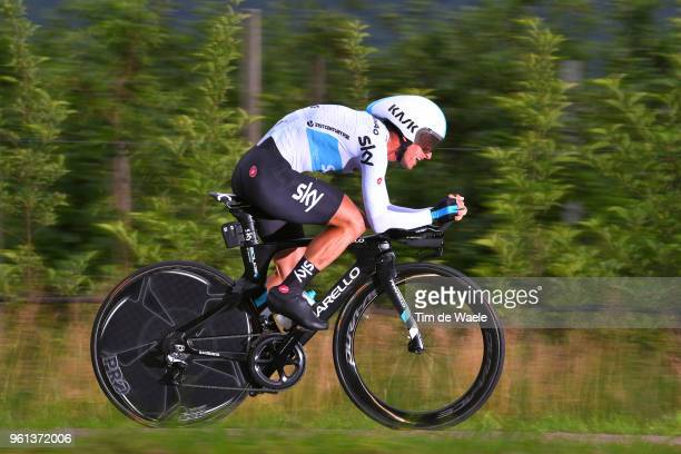 Sergio Luis Henao Montoya of Colombia and Team Sky / during the 101st Tour of Italy 2018 Stage 16 a 342km Individual Time Trial stage from Trento to...