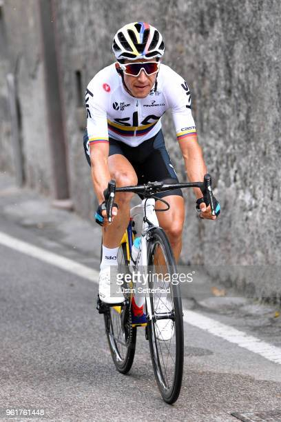 Sergio Luis Henao Montoya of Colombia and Team Sky / during the 101st Tour of Italy 2018 Stage 17 a 155km stage from Riva Del Garda to Iseo...