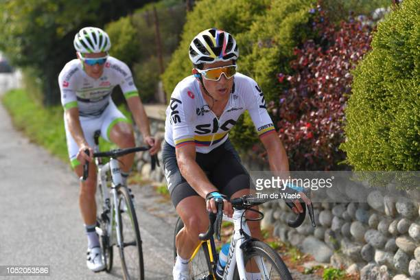 Sergio Luis Henao Montoya of Colombia and Team Sky / during the 112th Il Lombardia 2018 a 241km race from Bergamo to Como / IL / on October 13 2018...