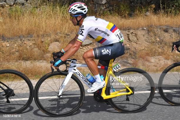 Sergio Luis Henao Montoya of Colombia and Team Sky / during the 73rd Tour of Spain 2018 Stage 9 a 2008km stage from Talavera de la Reina to Alto de...