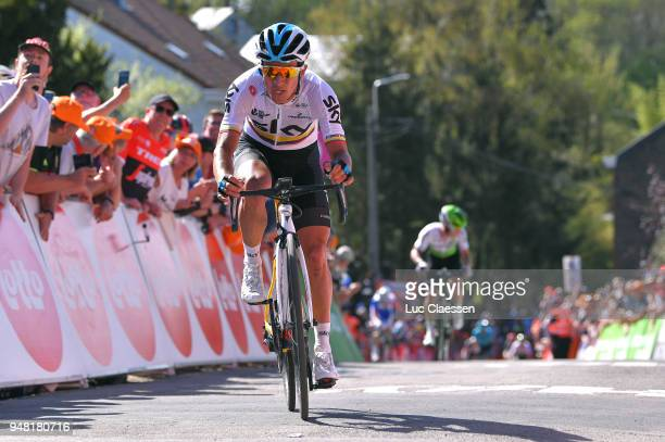 Sergio Luis Henao Montoya of Colombia and Team Sky /during the 82nd La Fleche Wallonne 2018 a 1985km race from Seraing to Mur De Huy on April 18 2018...