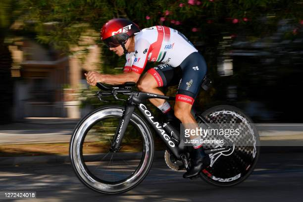 Sergio Luis Henao Montoya of Colombia and UAE Team Emirates / during the 55th Tirreno-Adriatico 2020 - Stage 8 a 10,1km Individual Time Trial in San...