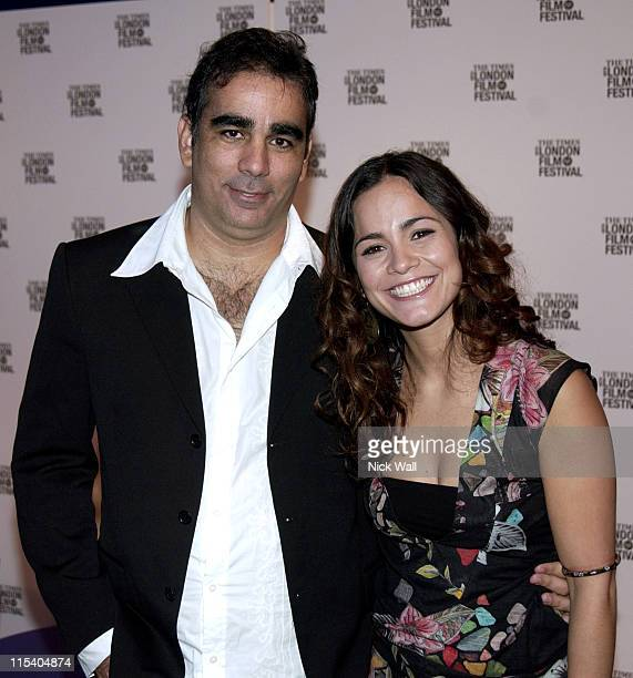 Sergio Machado and Alice Braga during The Times BFI London Film Festival 2005 'Lower City' at Odeon West End in London Great Britain