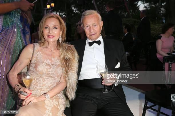 Sergio Mantegazza and his wife Brigitte Mantegazza attends the DeGrisogono 'Love On The Rocks' gala inside during the 70th annual Cannes Film...