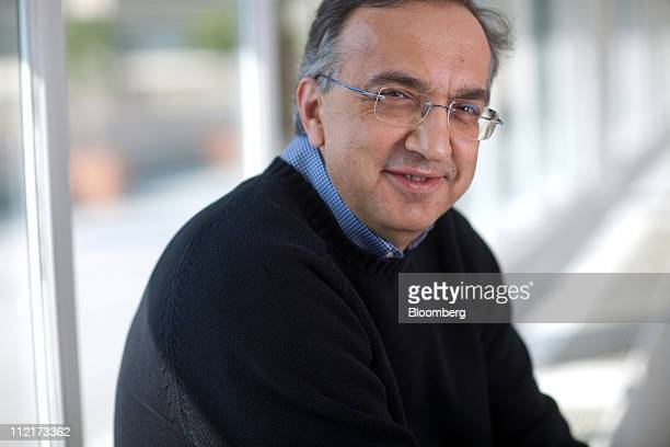 Sergio Marchionne chief executive officer of Chrysler Group LLC and chairman of Fiat SpA poses for a photograph at the Fiat SpA company headquarters...