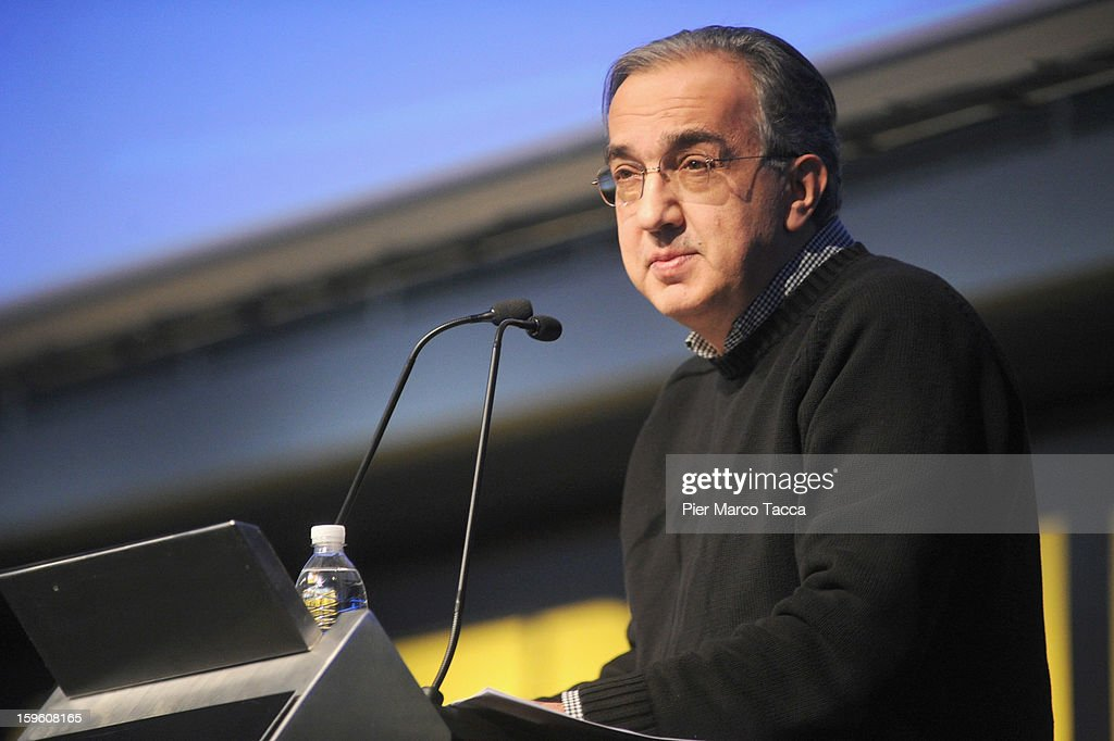 Sergio Marchionne, President of FIAT and Chrysler makes his speech at Quattroruote Day 2013 on January 17, 2013 in Milan, Italy. Quattroruote Day is an annual conference organized by the publishing firm Domus, which this year focuses on the future of the automobile in Italy.